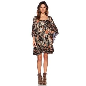Free People Floral Lined Tunic Dress XS
